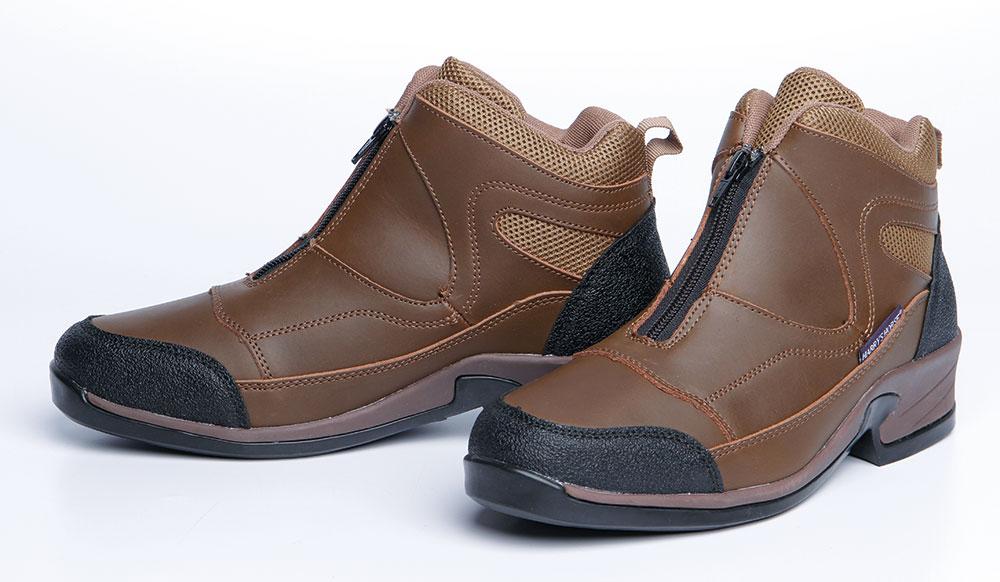 Harry/'s Horse Stallschuhe Schuhe Sherwood mit Reißverschluss Leder braun